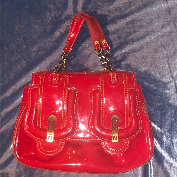13fb50de76 Fendi Bags | B Bag In Cherry Red Patent Leather | Poshmark